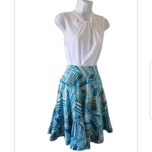Anthropologie Odille Abstract A line skirt sz 4